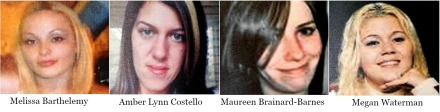 Photo collage. From left to right: Melissa Barthelemy, Amber Lynn Costello, Maureen Brainard-Barnes, and Megan Waterman