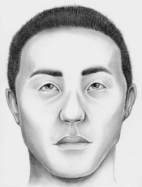 Composite sketch of John Doe (Asian male)